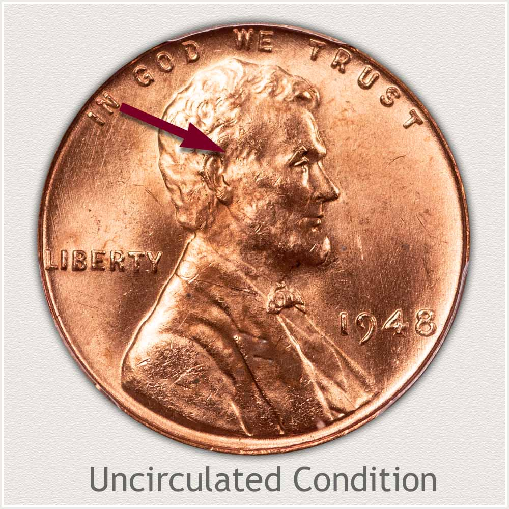 Uncirculated Grade 1948 Lincoln Penny