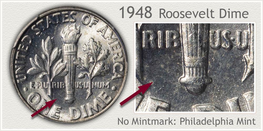 1948 Roosevelt Dime
