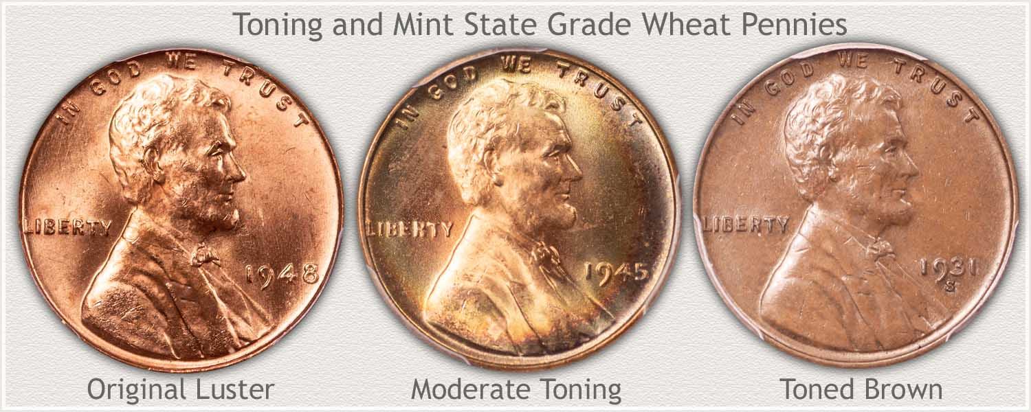Toning of Wheat Pennies
