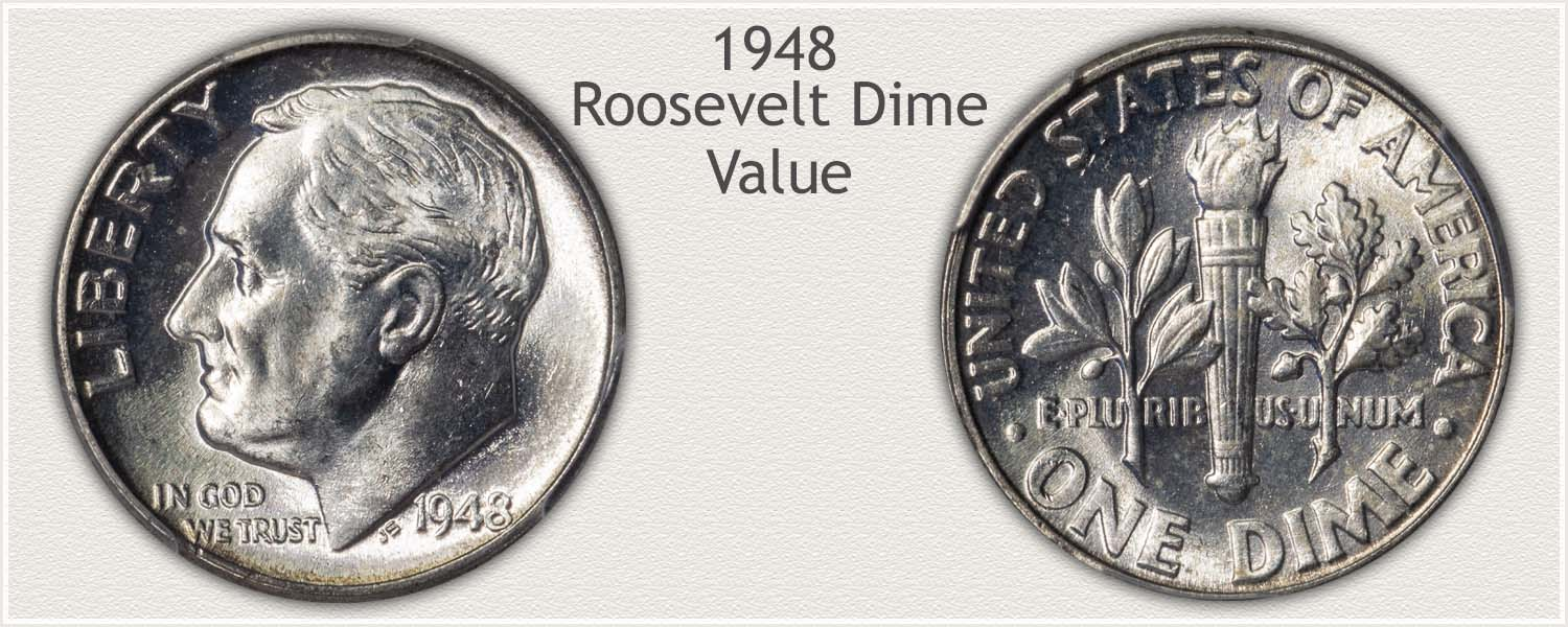 1948 Roosevelt Dime - Obverse and Reverse