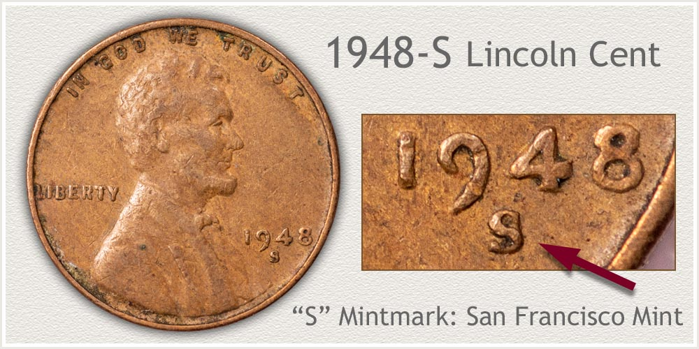 1948-S Lincoln Penny