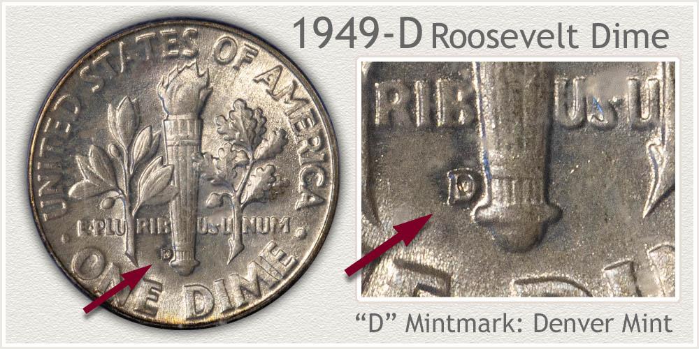 1949-D Roosevelt Dime