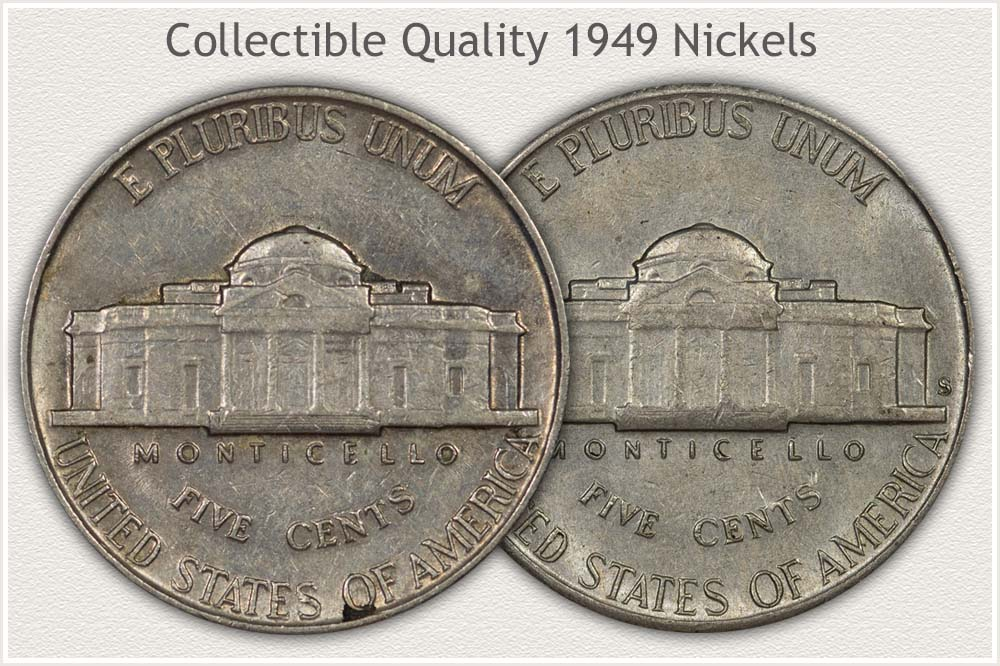 Reverse 1949 Jefferson Nickels