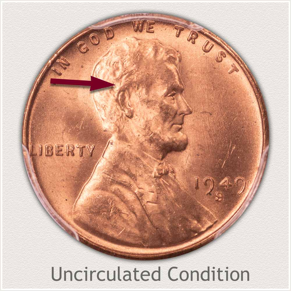 Uncirculated Grade 1949 Lincoln Penny
