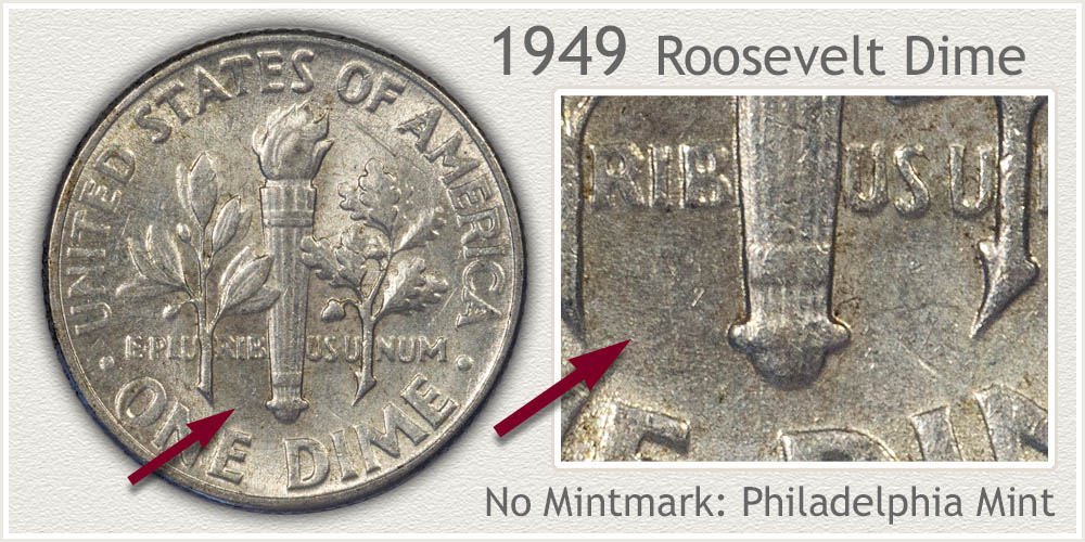 1949 Roosevelt Dime