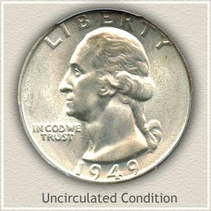 1949 Quarter Uncirculated Condition