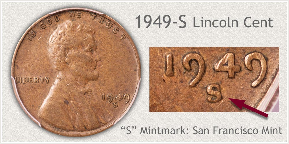 1949-S Lincoln Penny