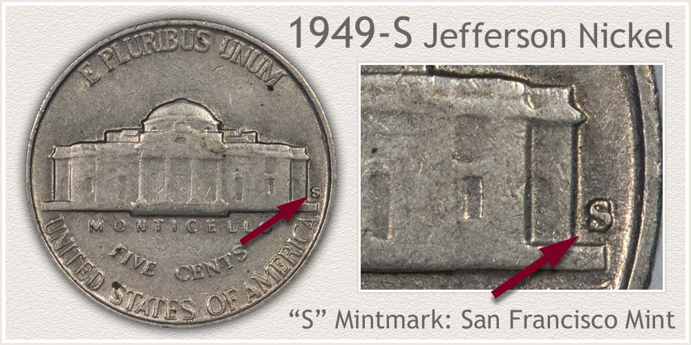 1949-S Jefferson Nickel