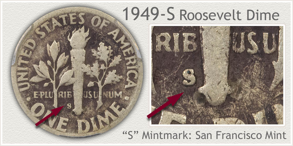 1949-S Roosevelt Dime