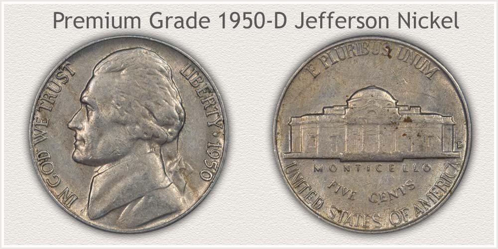 1950-D Nickel High Quality