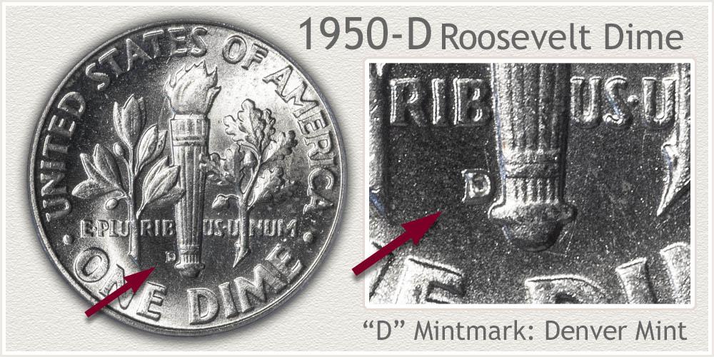 1950-D Roosevelt Dime