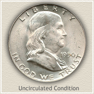 1950 Franklin Half Dollar Uncirculated Condition