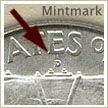 Mintmark Location 1950 Franklin Half Dollar
