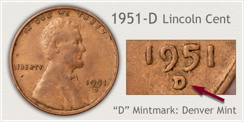 1951-D Lincoln Penny