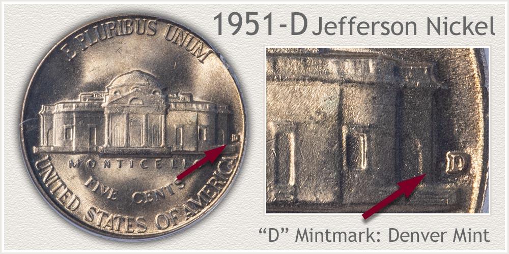 1951-D Jefferson Nickel