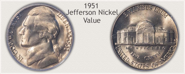 1951 Jefferson Nickel