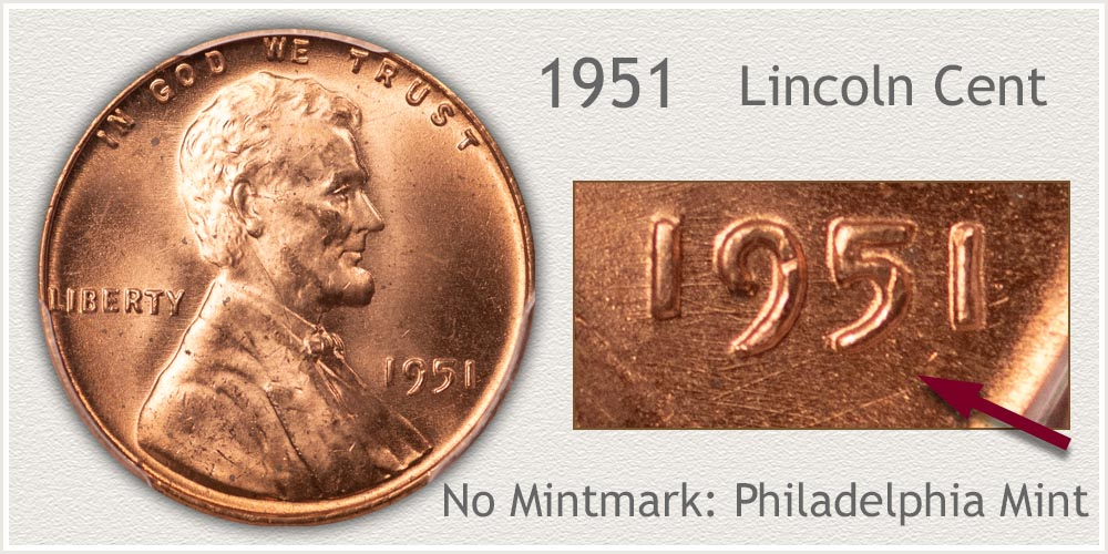 1951 Lincoln Penny