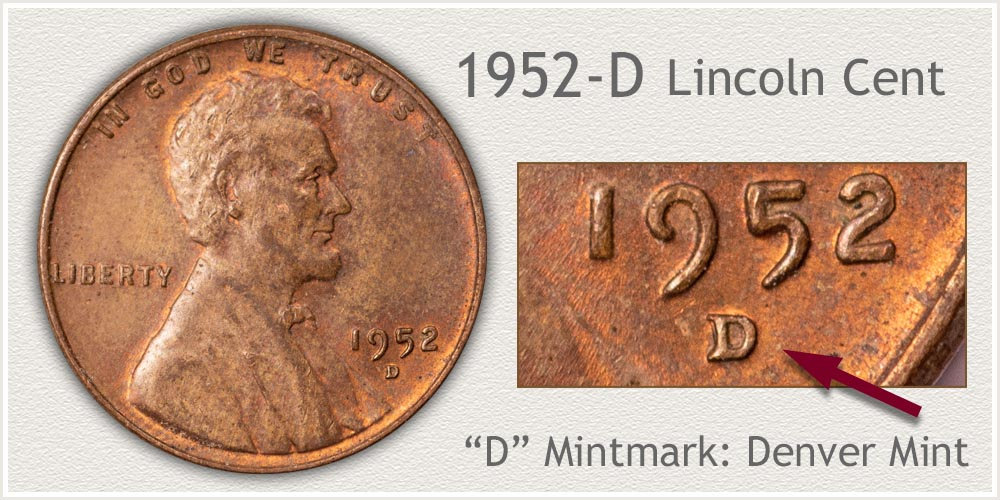 1952-D Lincoln Penny