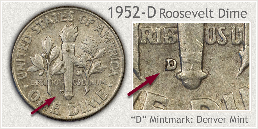 1952-D Roosevelt Dime