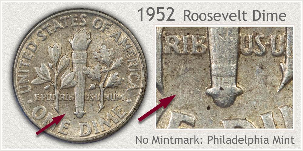 1952 Roosevelt Dime
