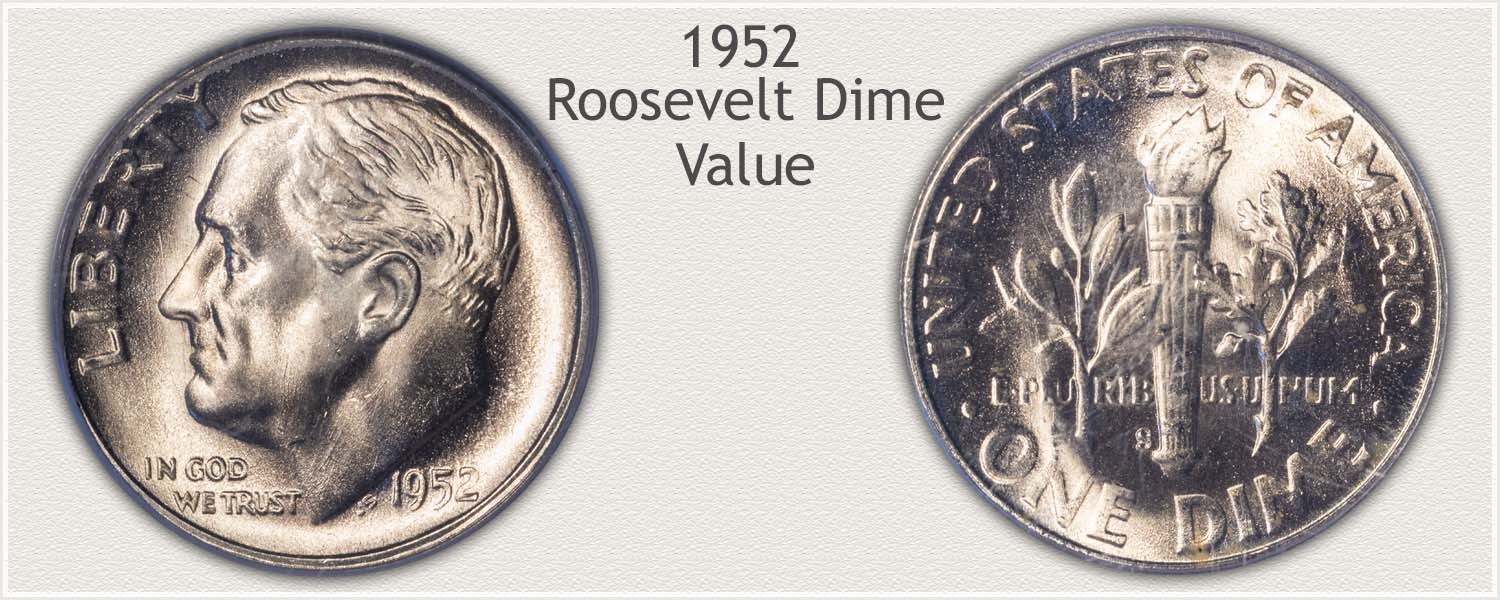 1952 Roosevelt Dime - Obverse and Reverse