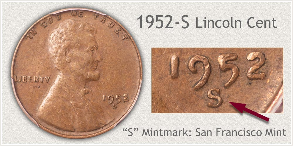 1952-S Lincoln Penny