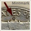 Mintmark Location 1953 Franklin Half Dollar