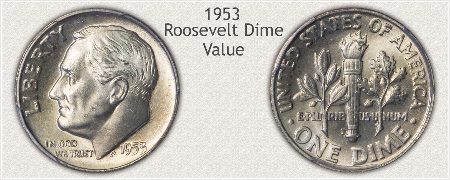 1953 Roosevelt Dime - Obverse and Reverse