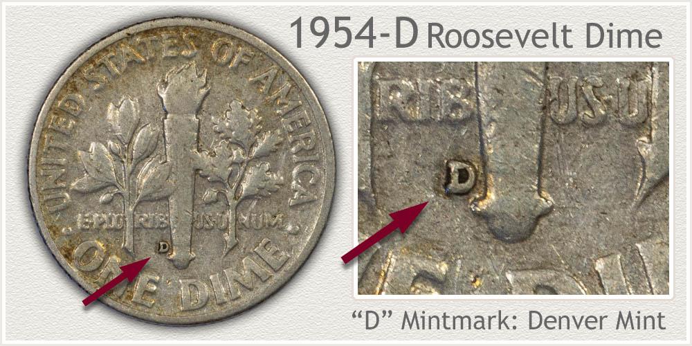 1954-D Roosevelt Dime