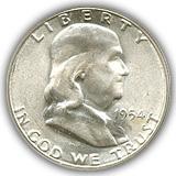 1954 Franklin Half Dollar Uncirculated Condition