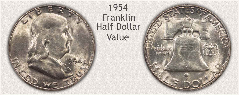 1954 Half Dollar - Franklin Half Series - Obverse and Reverse View