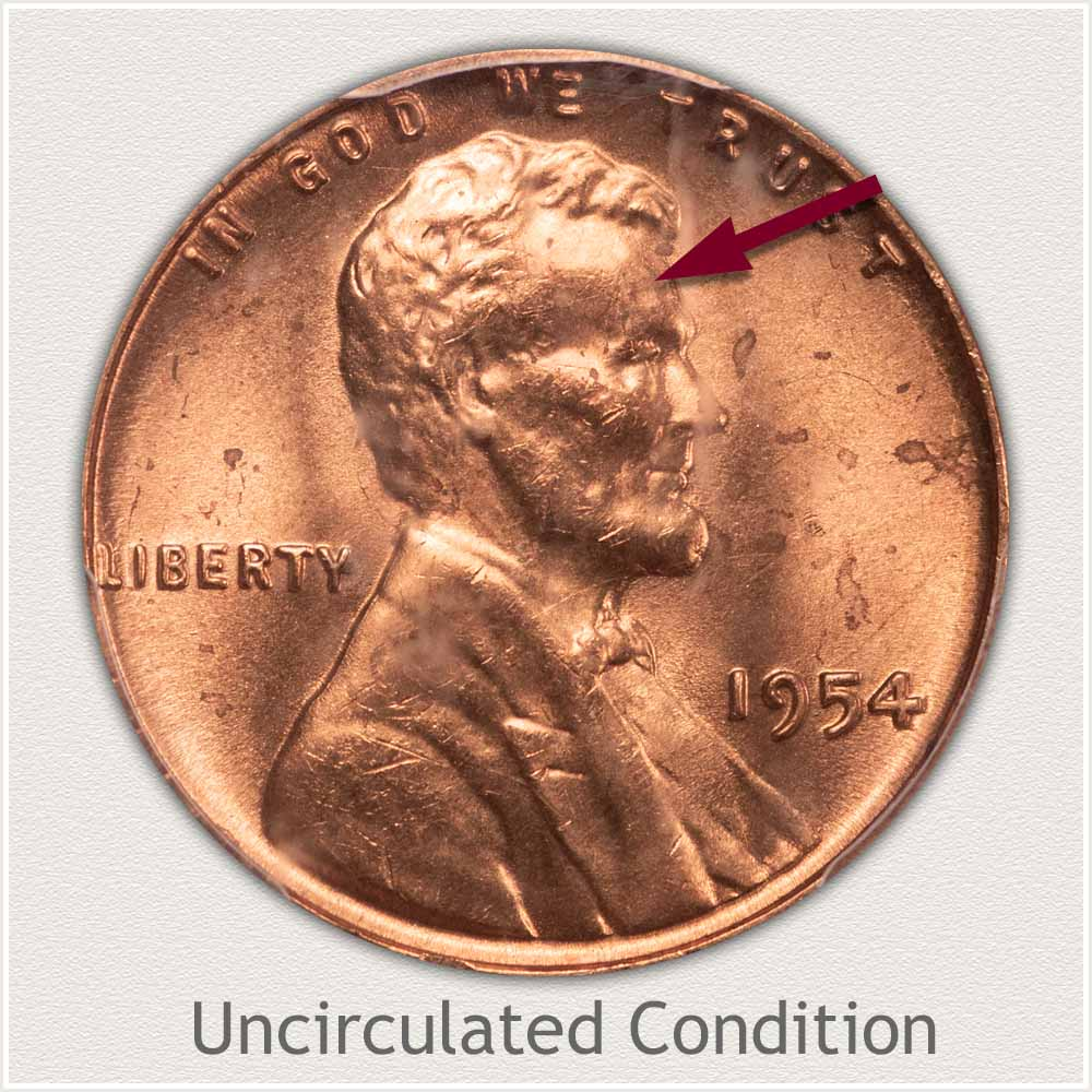 Uncirculated Grade 1954 Lincoln Penny