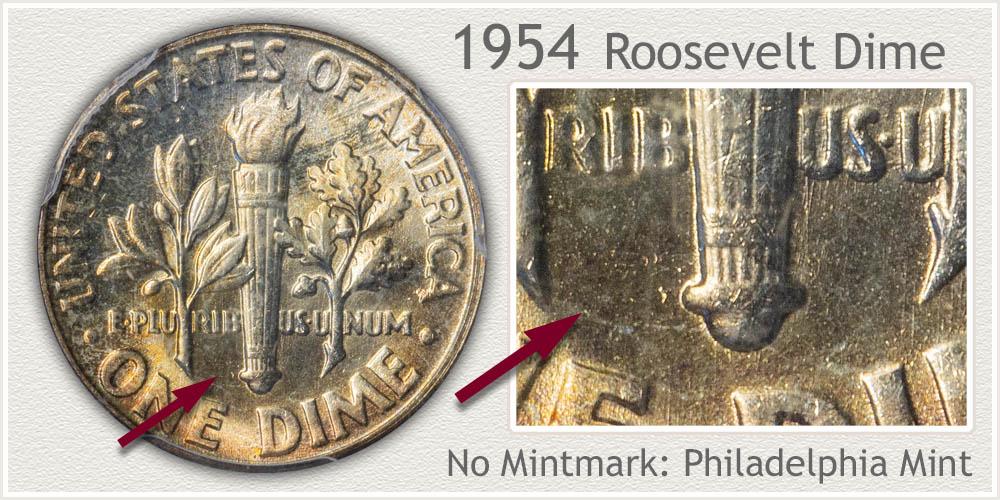 1954 Roosevelt Dime