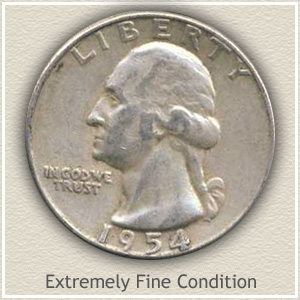 1954 Quarter Extremely Fine Condition