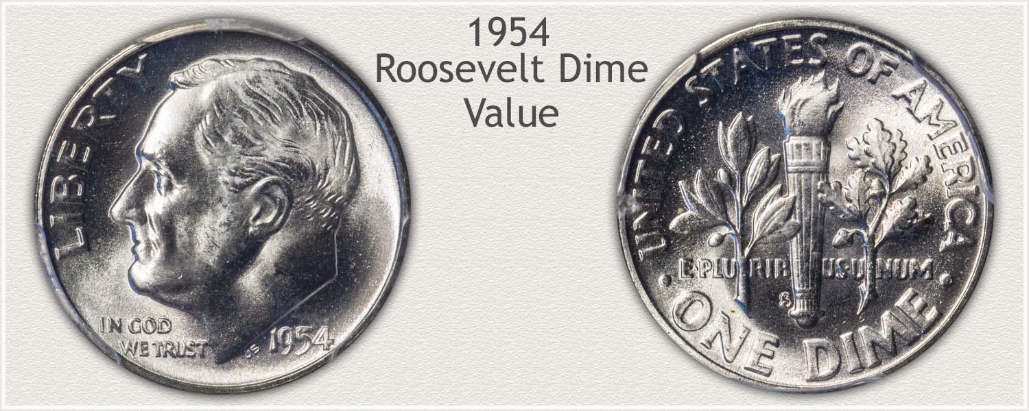 1954 Roosevelt Dime - Obverse and Reverse
