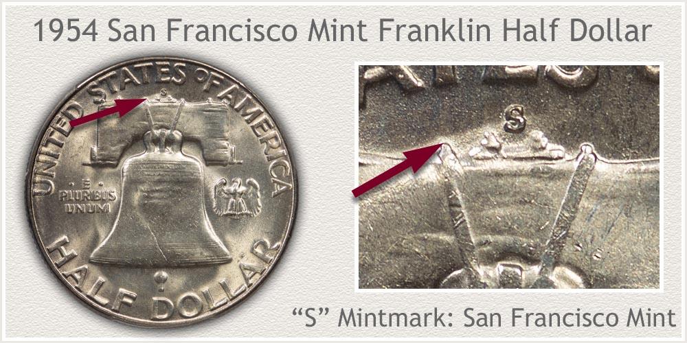 1954-S Franklin Half Dollar