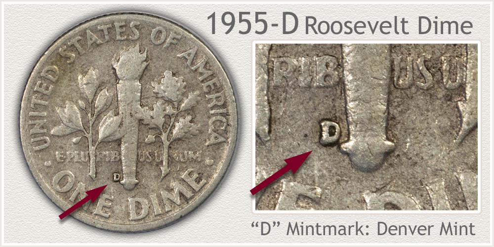 1955-D Roosevelt Dime