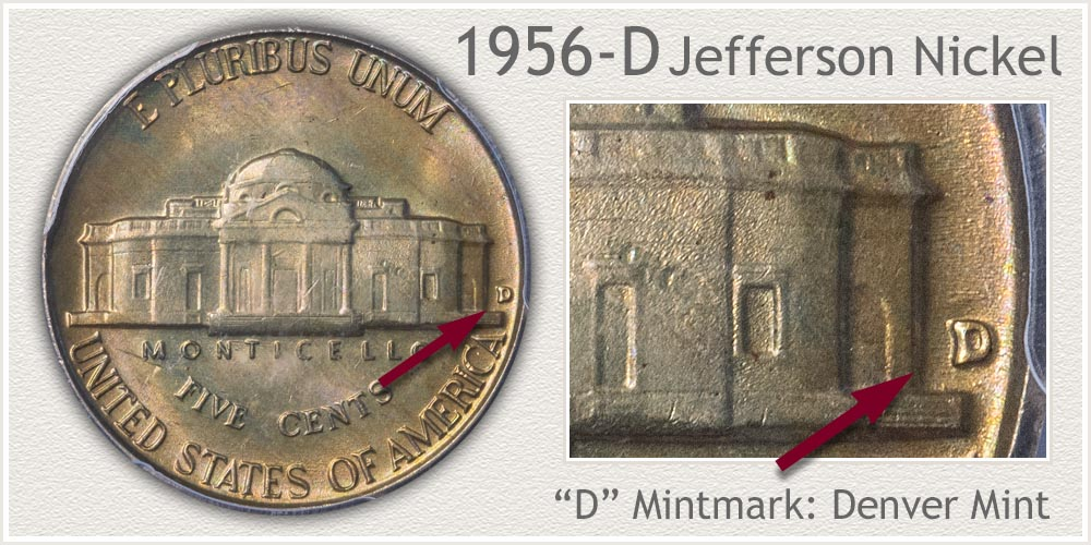1956-D Jefferson Nickel