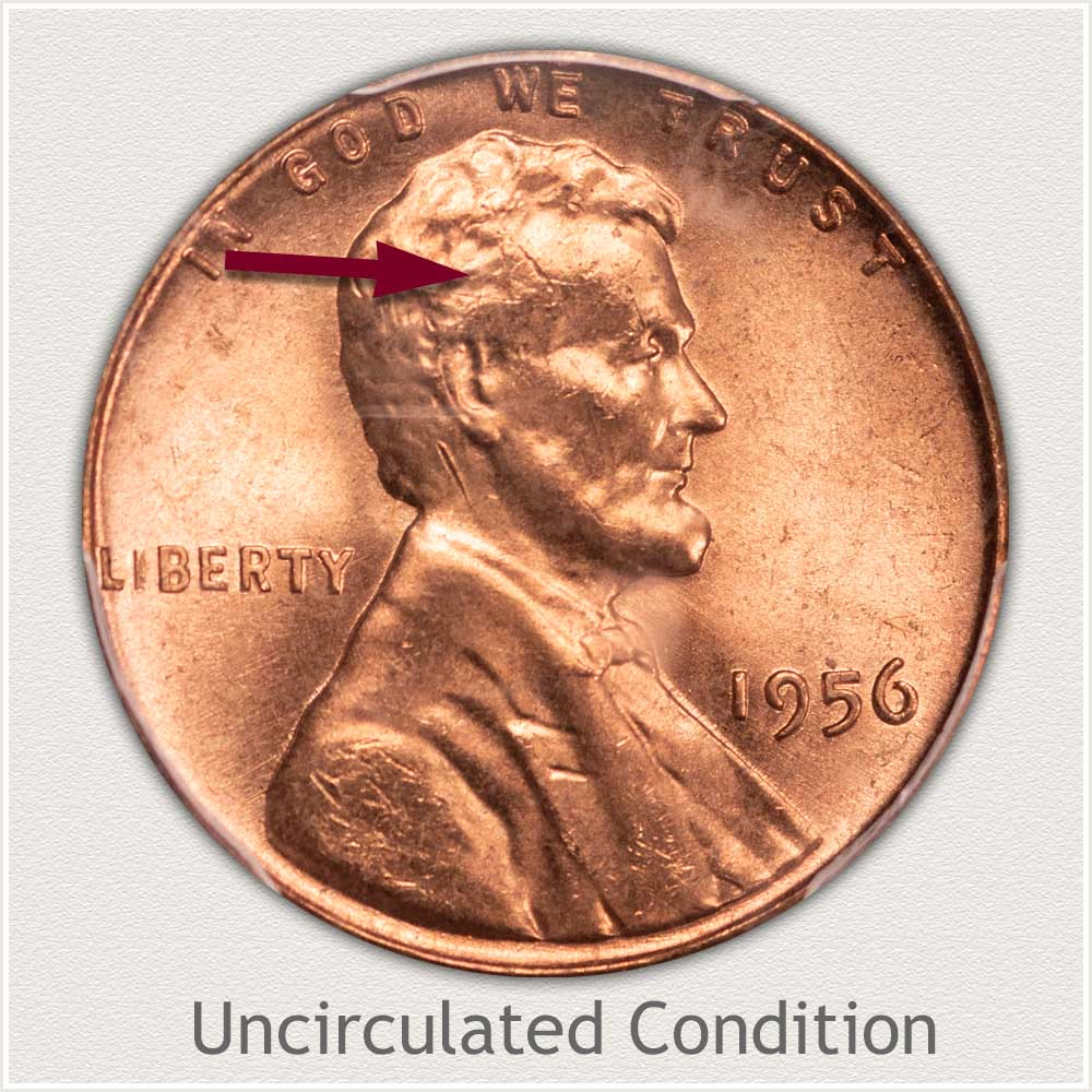 Uncirculated Grade 1956 Lincoln Penny