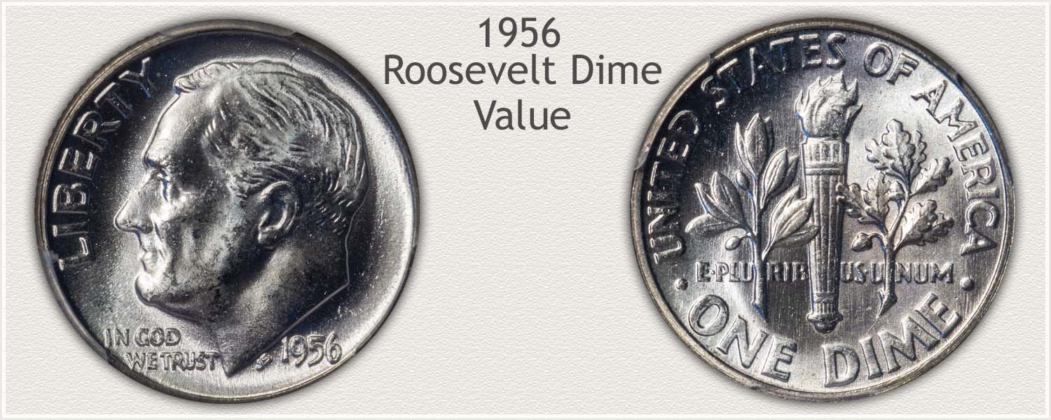 1956 Roosevelt Dime - Obverse and Reverse