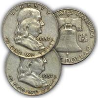 1957 Franklin Half Dollar Circulated Condition