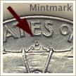 Mintmark Location 1957 Franklin Half Dollar