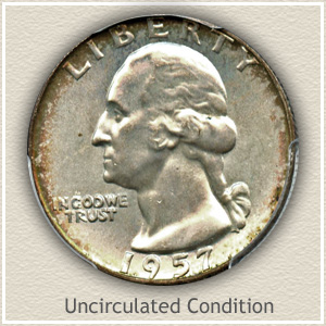 1957 Quarter Uncirculated Condition