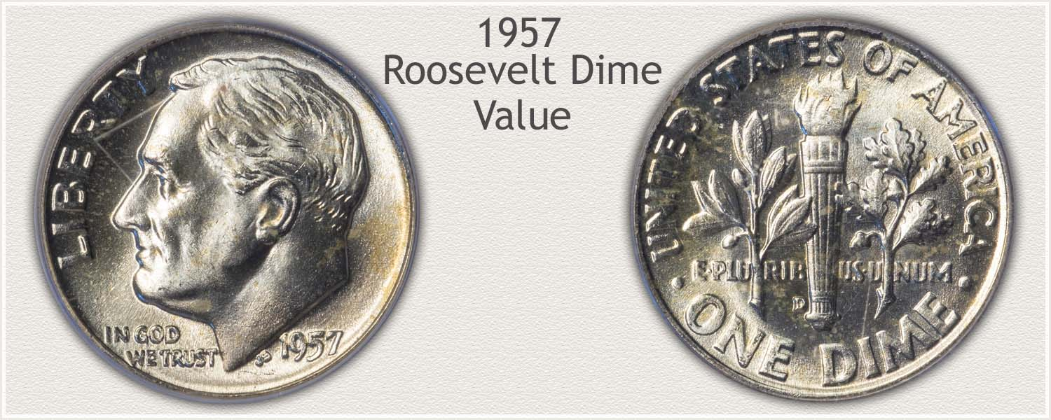 1957 Roosevelt Dime - Obverse and Reverse