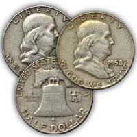 1958 Franklin Half Dollar Circulated Condition
