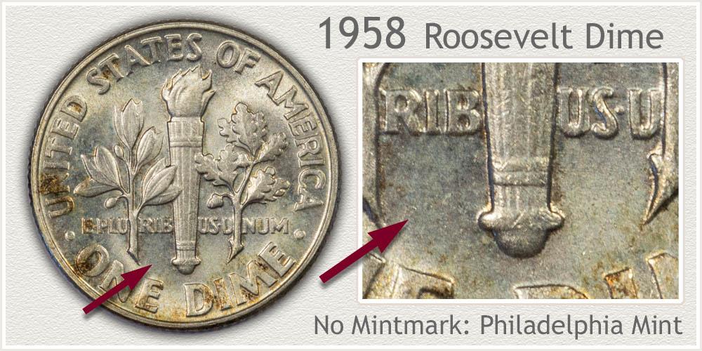 1958 Roosevelt Dime