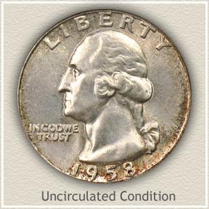 1958 Quarter Uncirculated Condition