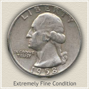 1958 Quarter Extremely Fine Condition