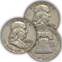 1959 Franklin Half Dollar Circulated Condition