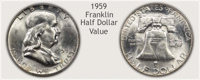 1959 Half Dollar - Franklin Half Series - Obverse and Reverse View